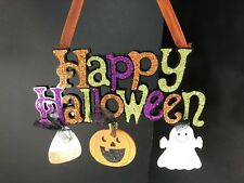 Halloween Decoration Interior Exterior Front Back Door Hanging Sign Through Home
