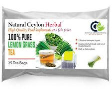 Lemon Grass Tea Ceylon (Cymbopogon citratus) -25 tea bags-Reduce Blood Pressure