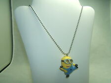 Despicable Me Minion Dave Figure On 19 Inch Stainless Steel Ball Necklace NEW!