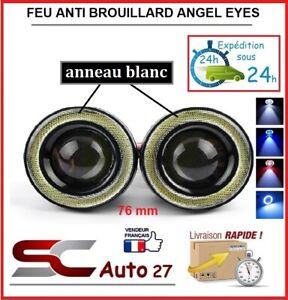 feu anti brouillard led angel eyes universel diam 76 mm blanc toute marque