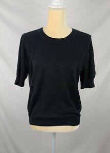 J. Crew Women's Black Soft Short Sleeve Knit Top sz M