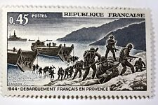 TIMBRE FRANCE NEUF LUXE N° 1605 ** MNH  WW2 DEBARQUEMENT EN PROVENCE