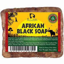 #1 Best Quality African Black Soap - Bulk 1lb Raw Organic Soap for Acne Dry Skin