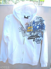 AUTHENTIC NEW  BILLABONG HOODED  MENS  REGULAR  FIT FLEECE  JACKET SIZE S  WHITE