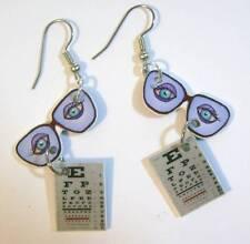 Eye Glasses Earrings Exam Board Charms