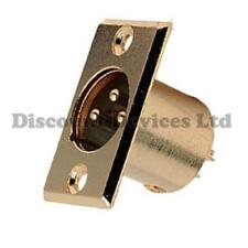 Connector XLR 3 pin Male Chassis Plug Gold Plated