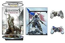 Skin Sticker PS3 PlayStation 3 Super Slim and 2 controller skins Assassins Q211