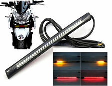 12V Universal 48 LED Bendable Strip Light Motorcycle Tail Brake Stop Turn Signal
