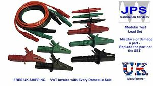 Megger 1502 1552 1553 Multifunction Unfused Test Leads Probes Crocodile Clips a