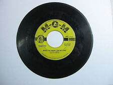 Make Me Know Your Mine - Story of My Love - Conway Twitty 45 RPM Record