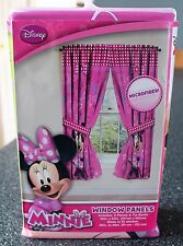 "Disney Minnie Mouse Panel Pair & Ties Curtain Window   42""W x  63"" L   Free Ship"