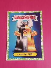 2017 GARBAGE PAIL KIDS Battle of the Bands 10a CANT SEE SIA POP GREEN GPK
