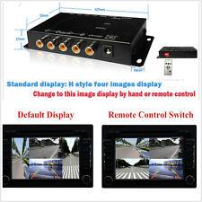 4-way Auto Video Interruttore Parcheggio Camera 4 vista immagine split-screen casella di controllo
