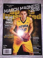 JARROD UTHOFF Signed SPORTS ILLUSTRATED 3/21/16 Magazine NO LABEL Iowa Hawkeyes