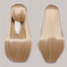 Cheap Women Fashion Cosplay Long Wig Anime Party Pink Red White Layer Full Wig s