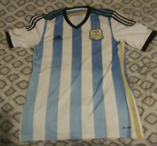ARGENTINA NATIONAL TEAM HOME JERSEY WORLD CUP 2014 ADIDAS CLIMACOOL  SIZE MEDIUM