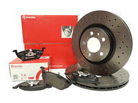 Audi A3 8P 03-13 Rear Brake Disc and Pads DRILLED  BREMBO UPGRADE PERFORMANCE