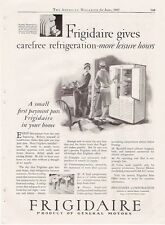 1927 VINTAGE AD FOR Frigidaire Electric REFRIGERATOR GM