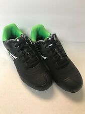 KID'S BASEBALL CLEATS, EASTON, BLACK AND GREEN, SIZES 2Y TO 6Y