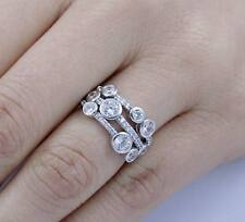 925 Sterling Silver CZ Cluster Fashion Cocktail Ring Women's Size 2.5-15 SR04224