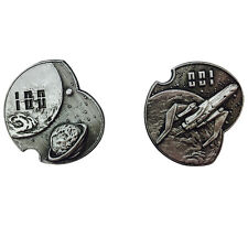 """Norse Foundry RPG D20 Adventure Coins """"100"""" Silver Piece Set of 10 Sci-Fi  Star"""