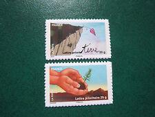 France - autocollants 2011 / Le timbre fête la Terre - autoadésifs 526a et 527a