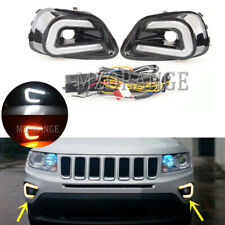 LED DRL For Jeep Compass 2013 2014 2015 Daytime Running Light Turn Signal Lamp