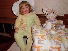 "Fayzah Spanos ""Joy"" 23"" tall sit down porcelain doll"