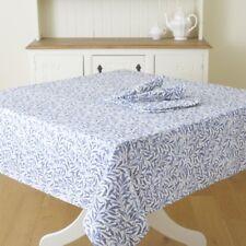 William Morris Willow Bough Blue 132 x 178cm Cotton Floral Tablecloth.