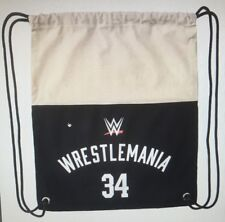 Official WWE Authentic WrestleMania 34 Canvas Drawstring Bag.