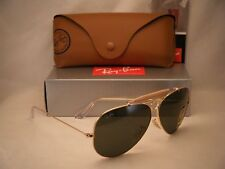 Ray Ban 3138 Shooter Gold w Green Crystal (G-15) Lens (RB3138 001 62 mm size)
