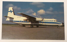 Finnair Airlines Fokker F-27-200 Airplane Postcard