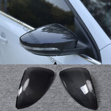 For VW Golf 7 GTI MK7 15-18 Carbon Fiber Door Side Mirror Cover Caps Replace