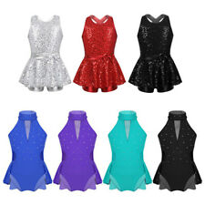 Girl Modern Tap Jazz Dance Dress Kid Ballet Gymanstics Skirted Leotards Costumes