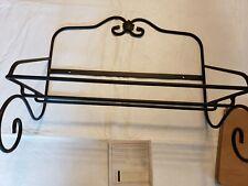 Longaberger ~ Wrought Iron Utility Shelf Wall Rack Warm Brown Shelf New