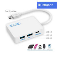 Type-C to 3 Port USB3.0 Hub USB-C 3.0 Combo with MS SD M2 TF Card Reader