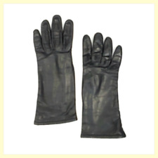 Edelweiss Guibert Freres/Lord & Taylor Black Kid Leather Vintage 3/4 Gloves~6.5