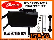 VONNIES TOYOTA PRADO 120 V6 DRIVER FRONT DUAL BATTERY TRAY SYSTEM 03/2003-2009