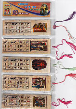 "LOT OF 20 HIEROGLYPHIC ALPHABET BOOKMARKS FR EGYPT,size (140 mm)5.4""X(40mm)1.5"""