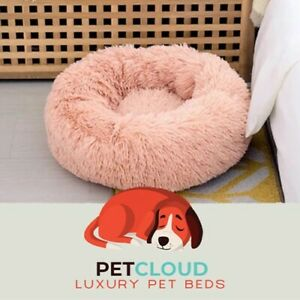 Pet Cloud Orthopedic Anti-Anxiety Calming Pet Bed Donut for Dogs and Cats
