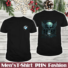 BMW X4M-X5M-X6M-M4-M5/Men's US 2D T-Shirt/Skull Wing/Logo In The Front/Hot Gift