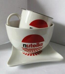 NUTELLA breakfast Set Mug Bowl Toast Plate