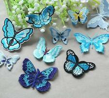 Butterfly Embroidery Applique Patch Craft DIY Lace Bridal Dress Costume 3 Pieces