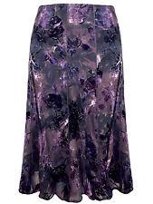 New P3r Una Mink Mix Burnout Floral 10 Panelled Skirt UK14 by M&5  RRP £45