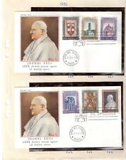 Vatican Sg359-64 Pope John Paul Fdc's Pope, physician's assistant medicine