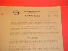 1941 CADILLAC 61 62 FLEETWOOD 60 75 UNITED MOTORS DELCO GM RADIO SERVICE MANUAL