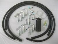 Universal 134a Air Conditioning Hose Kit O-Ring Fittings Drier AC Hoses Kit NEW