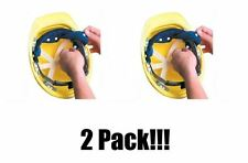 2 Pack! OccuNomix Navy Blue Toppers Terry Cloth Hard Hat Head Sweatband Snap-On