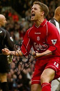Michael Owen Signed 6x4 Photo Liverpool England Manchester United Autograph +COA