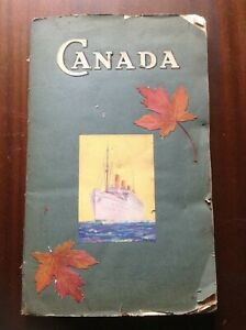 Scrapbook Canada 1920s photos maps Alberta & Canadian Pacific immigration ?